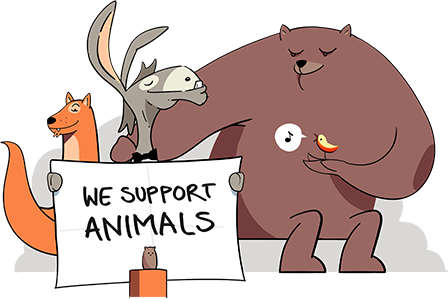 Donkhunter support animals